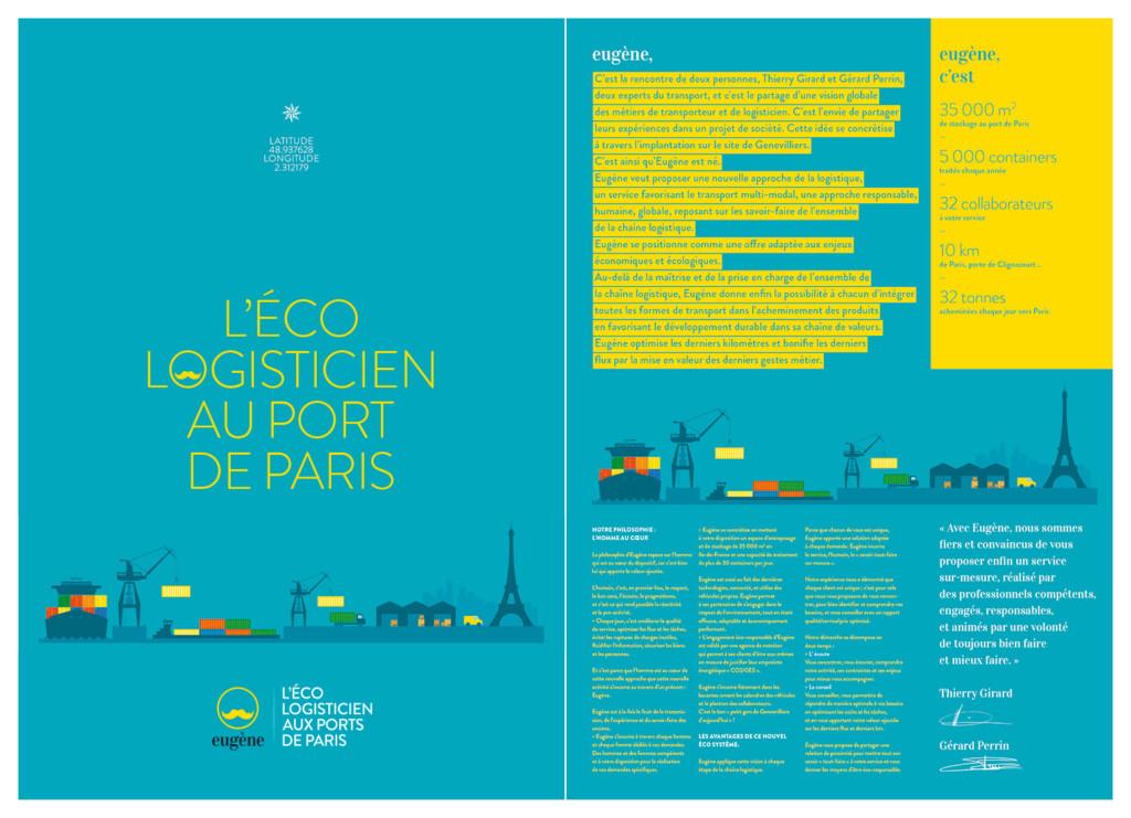 Brochure commerciale, aperçu recto-verso