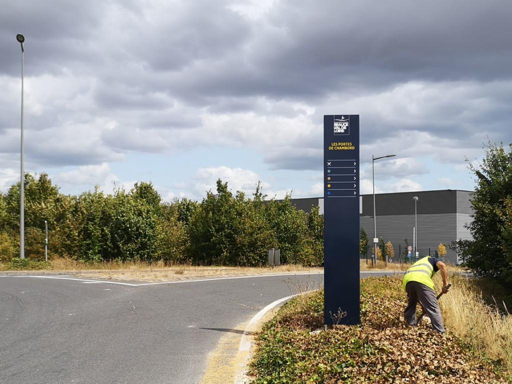Signalétique ZAI les Portes de Chambord